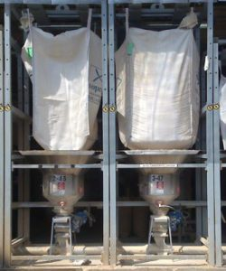 Polymer bulk bag unloader
