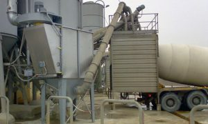 Cement batching plant dust collector