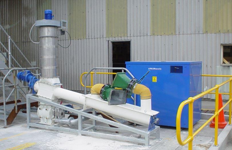 Grain Blower System : Dump truck grain gate unloading filquip