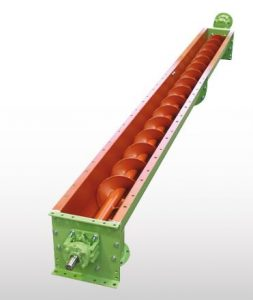 Trough solids screw conveyor