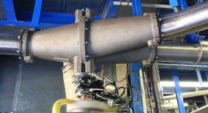 Flap pipeline diverter valve