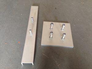Vibrator mounting pieces