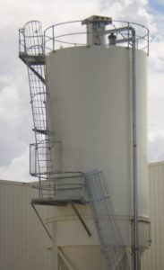 Silo Duct to ground
