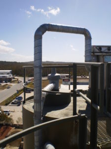 Silo Overfill protection Ducting to Ground