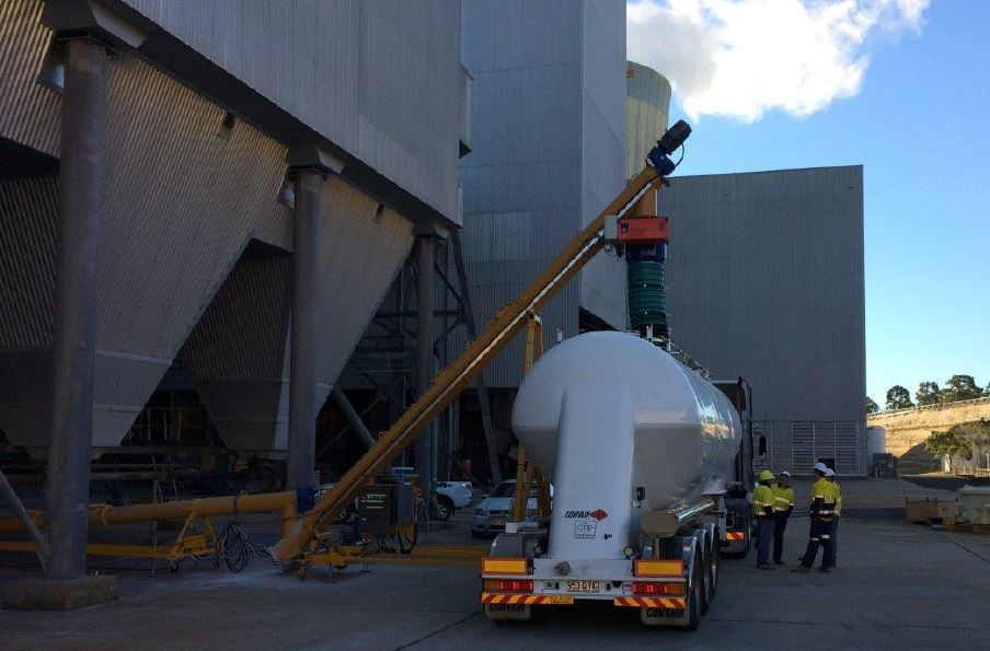 Loading Flyash into Tankers