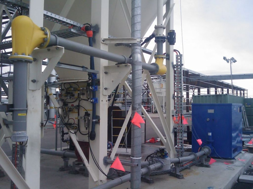 Cement and Slag Pneumatic Transfer System