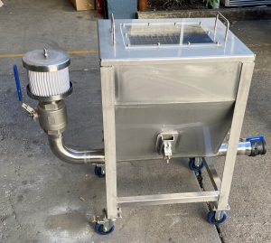 Pet Food Mobile Vacuum Loader Ground Hopper
