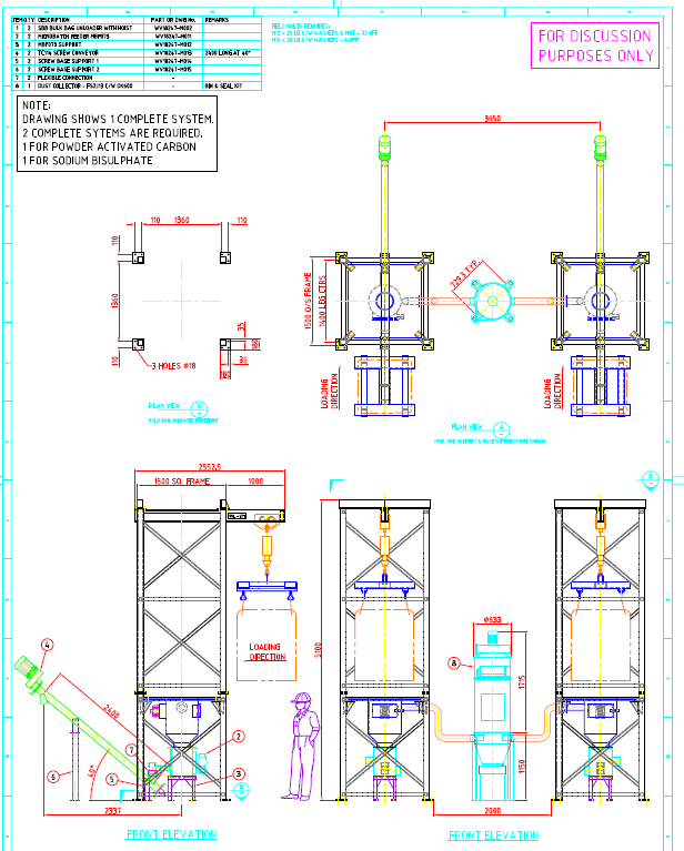 PAC Handling and Dosing System - Adelaide Desal